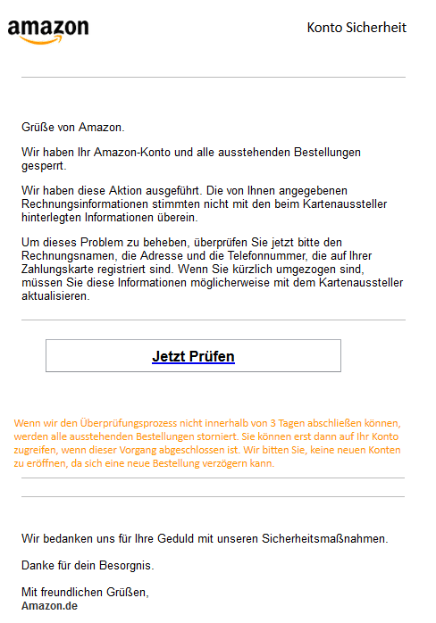Phishing Amazon